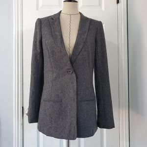 7 for All Mankind Gray Textured  Blazer